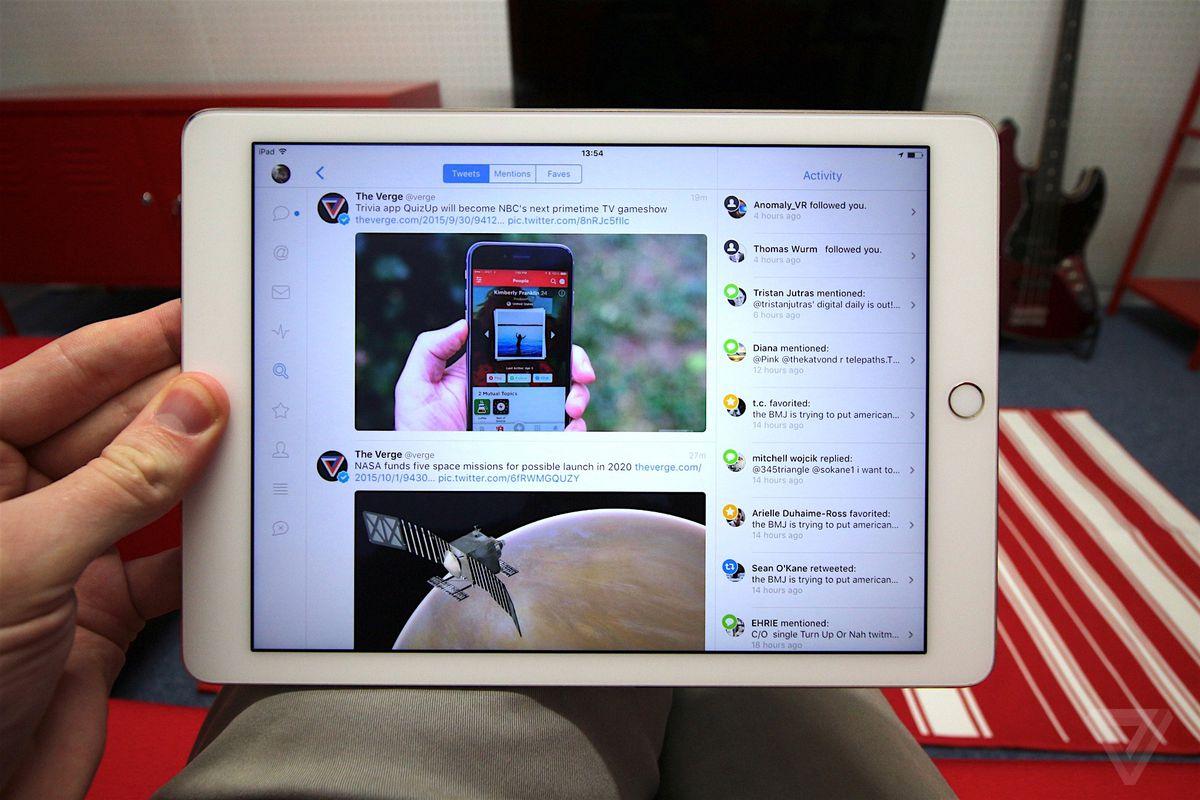 Twitter sur iPad