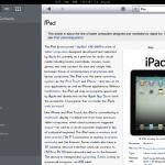 Test de Wikipanion sur iOS