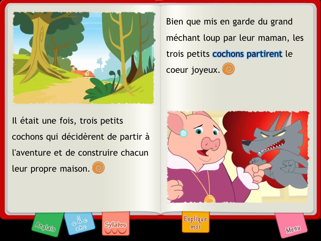 application Les Trois Petits Cochons